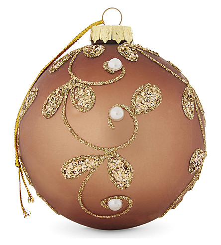 HANGING ORNAMENT Pearl glass bauble