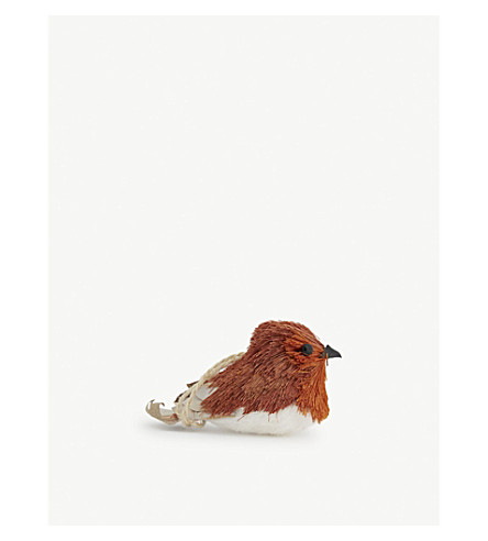 HANGING ORNAMENT Bristlewood robin hanging decoration 5cm