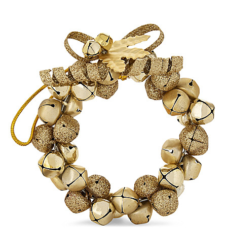 HANGING ORNAMENT Jingle bells wreath bauble 11cm