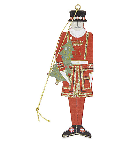 HANGING ORNAMENT Beefeater wooden hanging ornament 11.5cm
