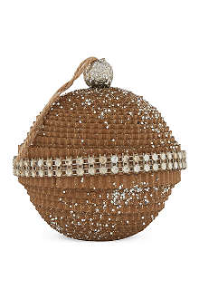 GISELA GRAHAM Natural cardboard glitter ball 9cm