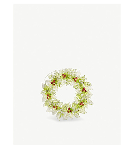 HANGING ORNAMENT Holly wreath decoration