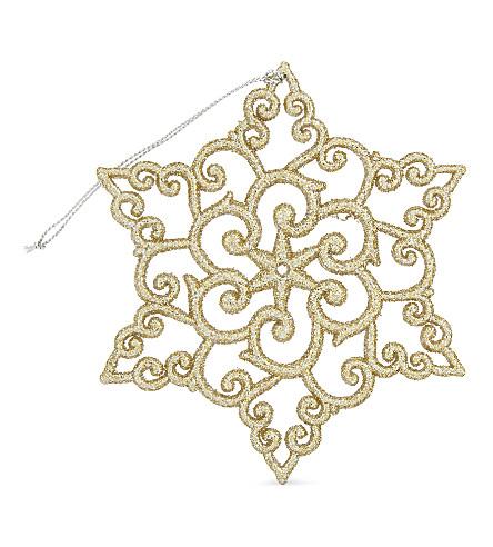 HANGING ORNAMENT Glitter snowflake tree ornament 11.5cm