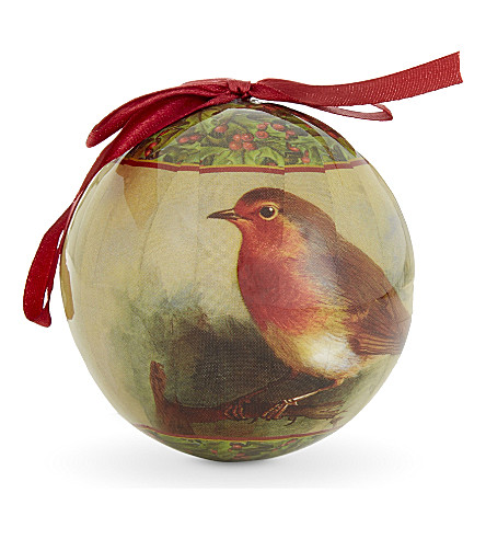 HANGING ORNAMENT Robin bauble 9cm