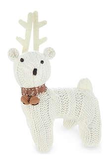 GISELA GRAHAM Knitted reindeer 16cm