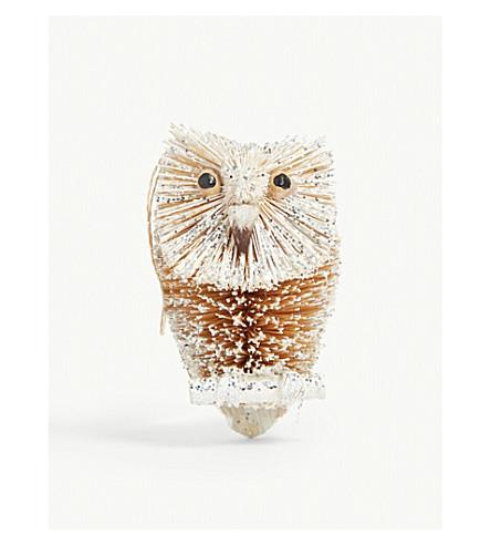 GISELA GRAHAM Owl tree decoration 9cm