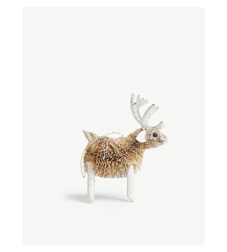 HANGING ORNAMENT Reindeer tree decoration 13cm