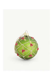 GISELA GRAHAM Holly trellis bauble