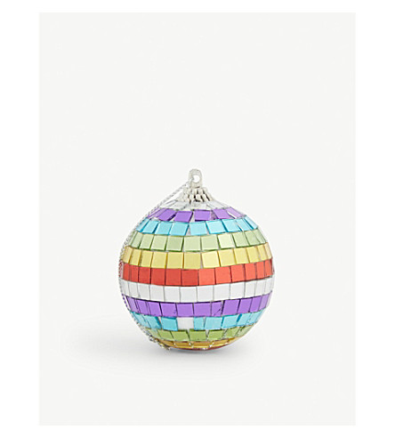 HANGING ORNAMENT Rainbow mirror bauble 6cm