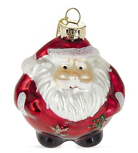 BAUBLE Round Santa bauble 7cm