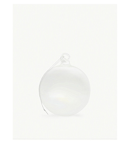 BAUBLE Iridescent bauble 8cm