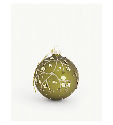 GISELA GRAHAM Forest sequins bauble 8cm