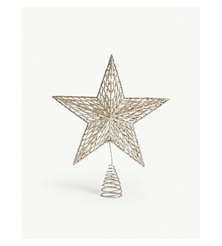HANGING ORNAMENT Glitter star tree topper 35cm