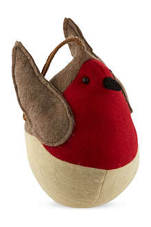 GISELA GRAHAM Fabric robin door stop 19cm