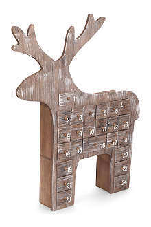 GISELA GRAHAM Reindeer wooden advent calendar