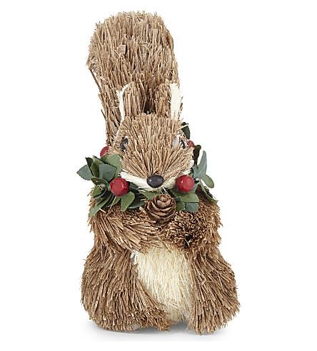HANGING ORNAMENT Berry wreath squirrel decoration 17cm