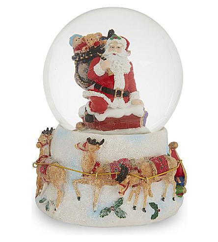 HANGING ORNAMENT Santa muscial snow globe 20cm