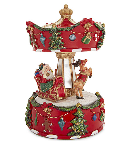 HANGING ORNAMENT Santa musical carousel