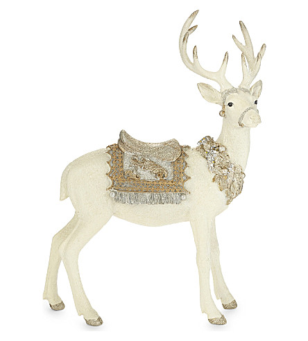 HANGING ORNAMENT Glittered stag ornament