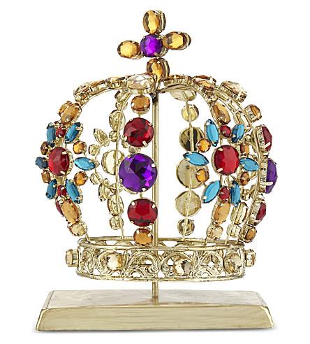 HANGING ORNAMENT Embellished crown stocking hanger 16.5cm