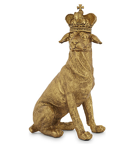 HANGING ORNAMENT Golden Retriever and Crown decoration 30cm