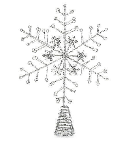 HANGING ORNAMENT Snowflake tree topper 32.5cm