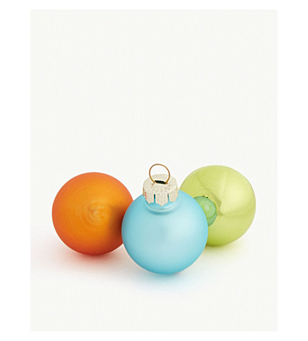 HANGING ORNAMENT Mini glass bauble set of 25