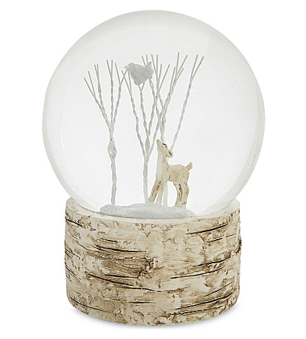 HANGING ORNAMENT Reindeer snow globe 18cm