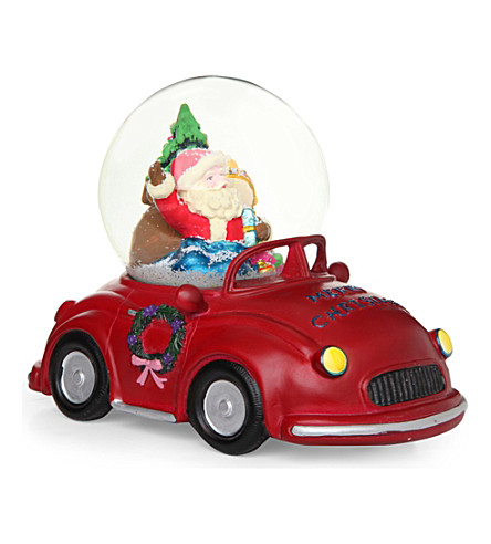 ORNAMENT Santa musical snowglobe