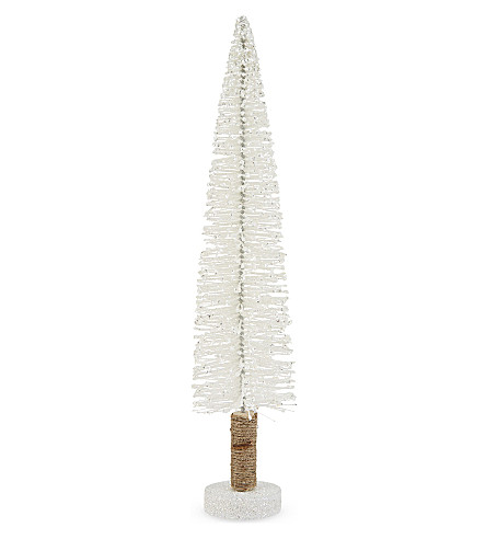 HANGING ORNAMENT Glitter bristle standing Christmas tree 35cm