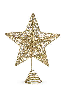 GISELA GRAHAM Glitter star tree topper 20cm
