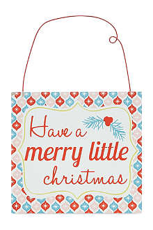GISELA GRAHAM Merry Little Christmas plaque