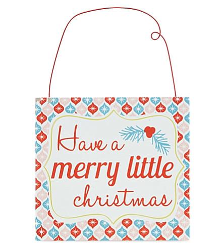 GISELA GRAHAM Merry Little Christmas plaque