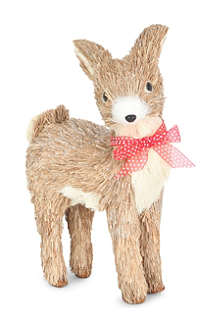 GISELA GRAHAM Deer bristle standing ornament 32cm
