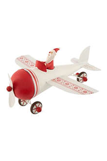GISELA GRAHAM Santa plane decoration