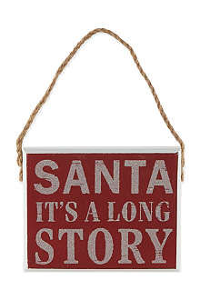GISELA GRAHAM Santa It's a Long Story plaque