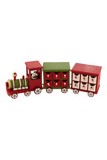 GISELA GRAHAM Wooden advent calendar train