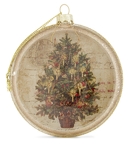 HANGING ORNAMENT Nostalgic scene Christmas tree decoration 9.5cm