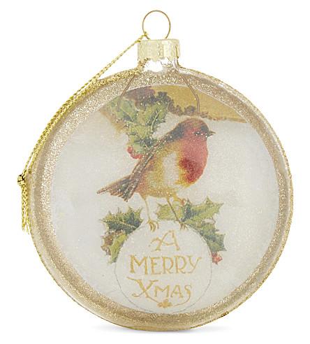 HANGING ORNAMENT Robin tree decoration 8.5cm