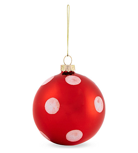 BAUBLE Polka-dot bauble 8cm