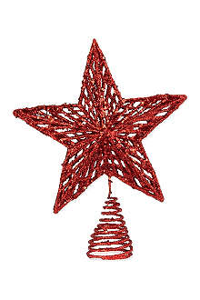 GISELA GRAHAM Small glitter star tree topper 22cm