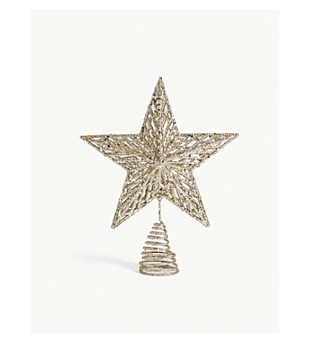 HANGING ORNAMENT Glitter star tree topper 22cm