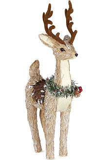 GISELA GRAHAM Bristle reindeer ornament 50cm