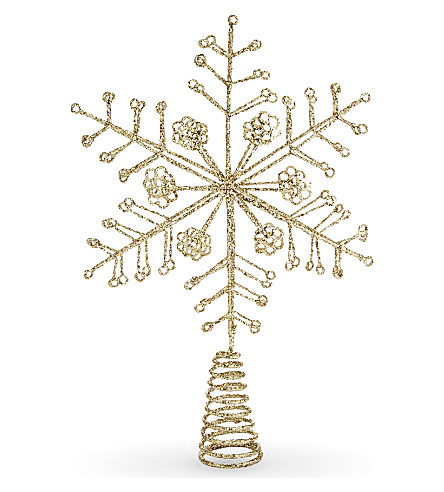 HANGING ORNAMENT Snowflake tree topper 33cm