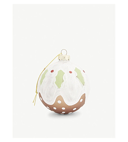 BAUBLE Christmas pudding bauble 8cm