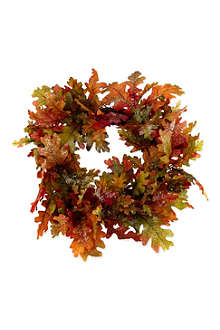 GISELA GRAHAM Autumn oak leaf wreath 40cm
