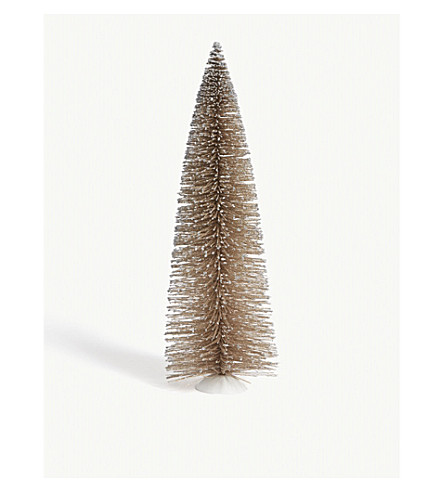 HANGING ORNAMENT Gold glittered fir tree 45cm