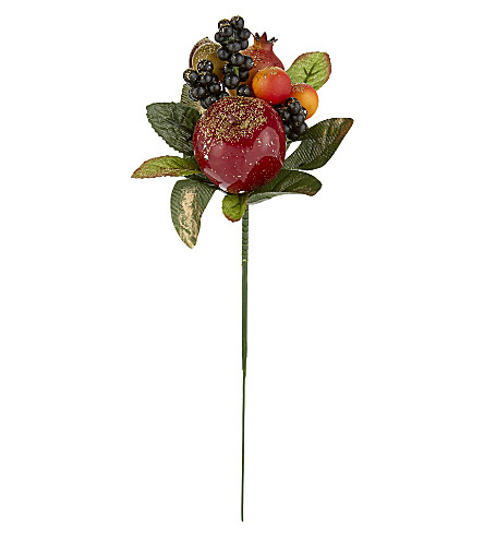 HANGING ORNAMENT Glitter dusted fruit bouquet 25cm