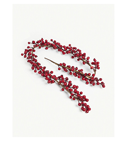 HANGING ORNAMENT Red berry garland 61cm