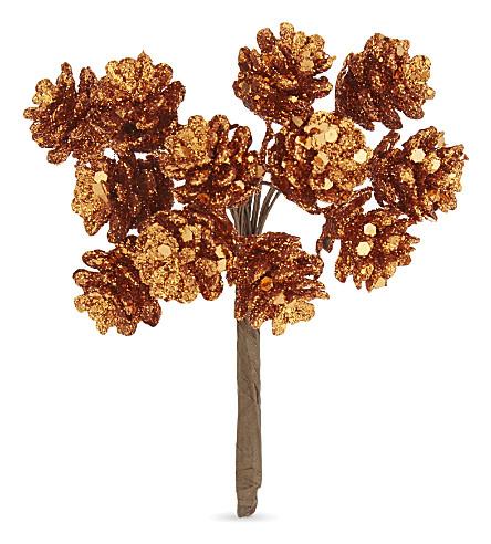 HANGING ORNAMENT Pine cone glitter decoration 11cm